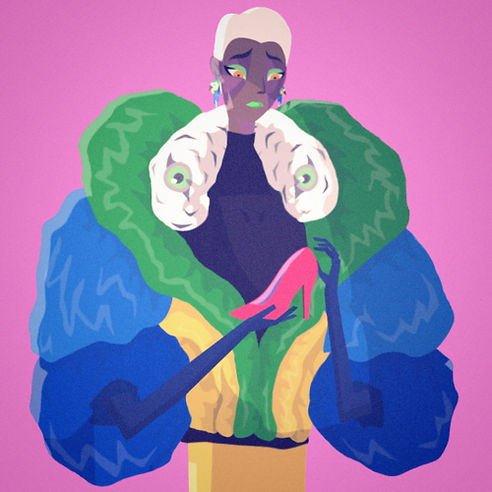 Blue Macaw Woman