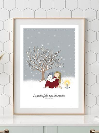 Affiche A4 Petite Fille aux Allumettes