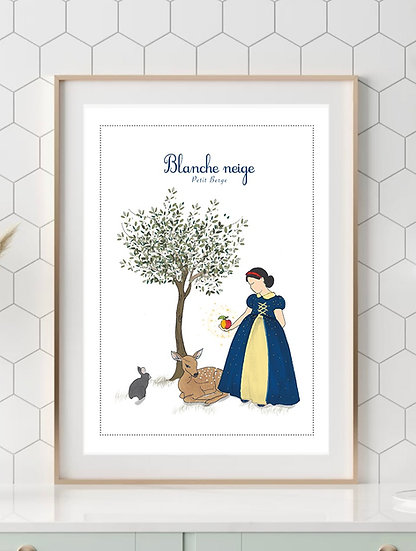 Affiche A4 Blanche-neige