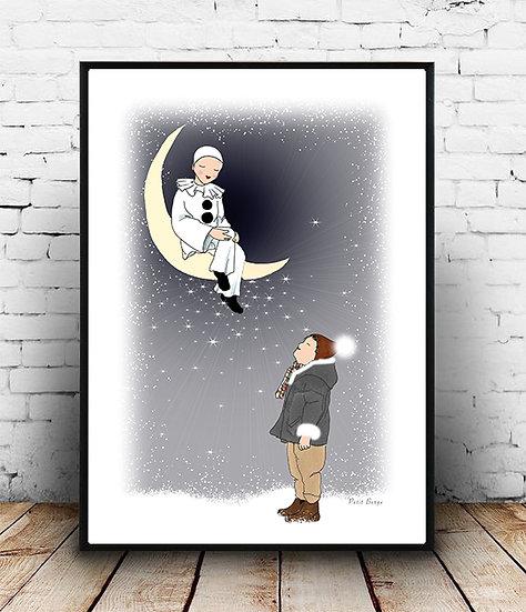 Affiche Pierrot