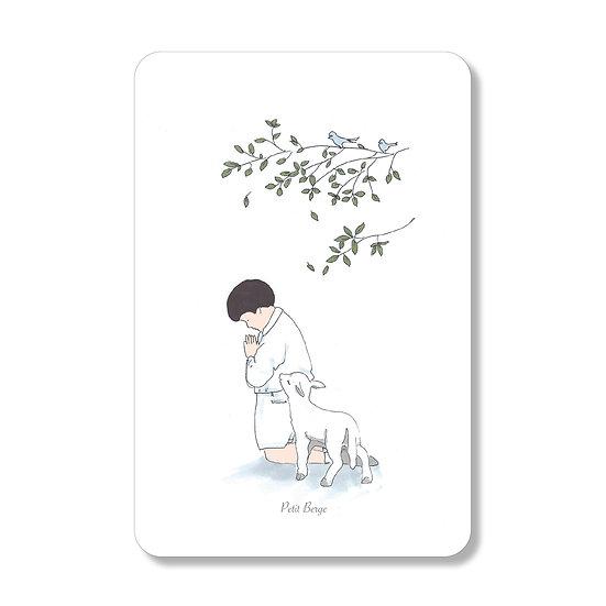 20 Cartes Petit Agneau ( personnalisable)