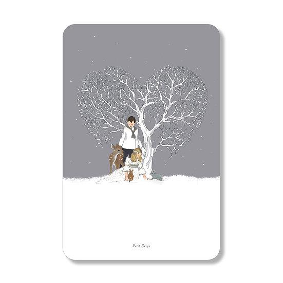 carte coeur d'hiver