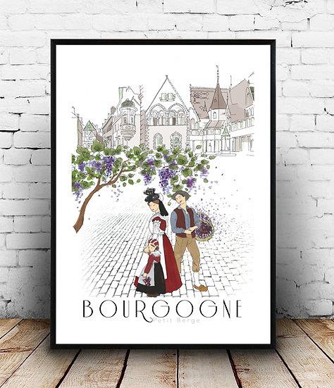 Affiche Bourgogne