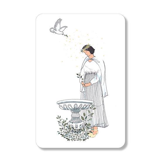20 cartes personnalisables baptême catéchumène