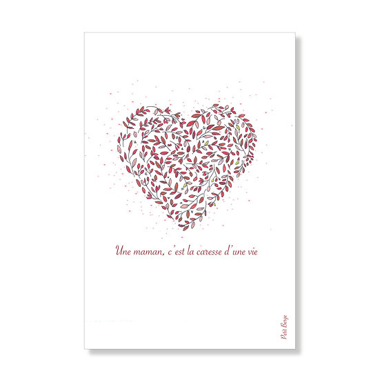 Carte postale coeur de maman