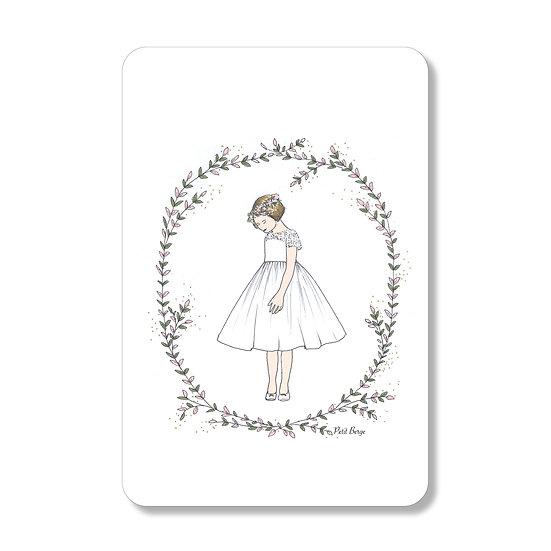 20 cartes Robe Volante fond blanc ( personnalisable)