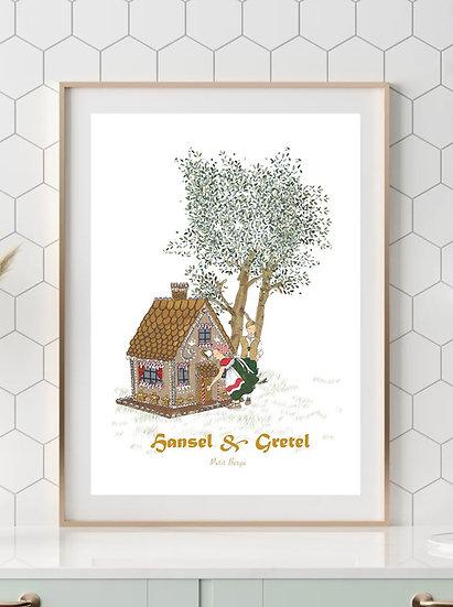 Affiche A4 Hansel et Gretel