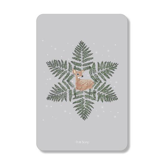 Carte faon de Noel