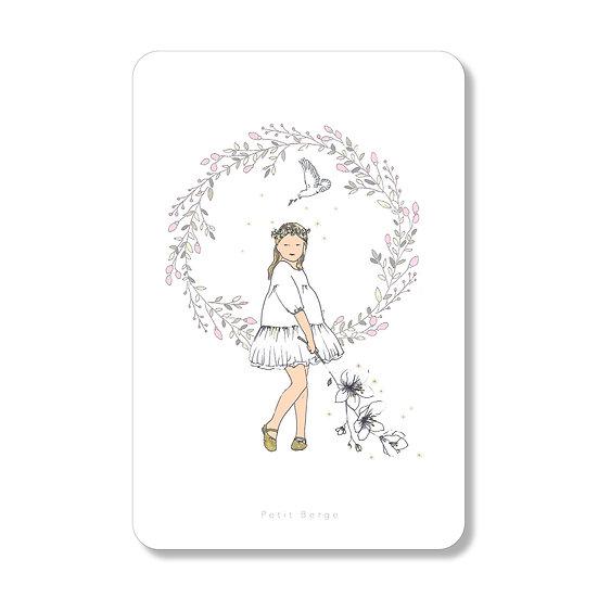 10 Cartes petite fille au lys ( personnalisable)