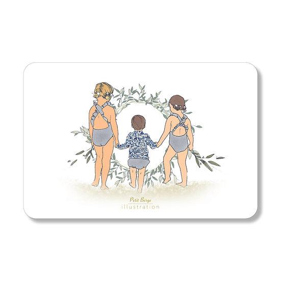 """Carte postale """"baignade"""""""