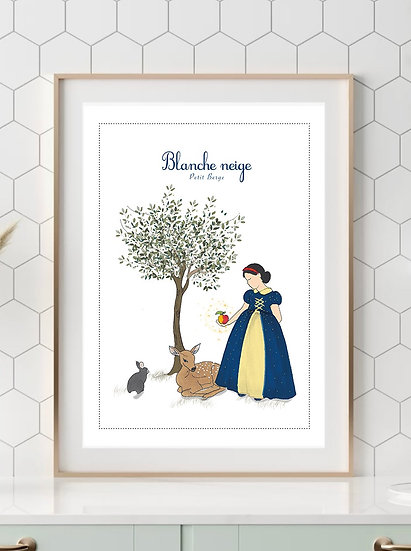 Affiche A4 Blanche neige