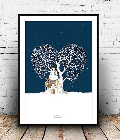 Affiche coeur d'hiver