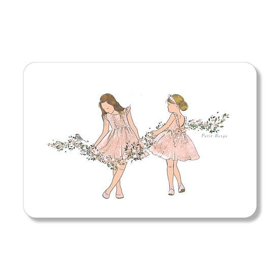 Carte guirlande de fleurs