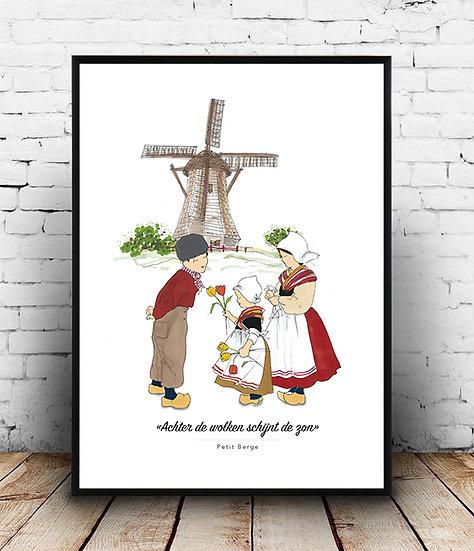 Affiche Pays-bas