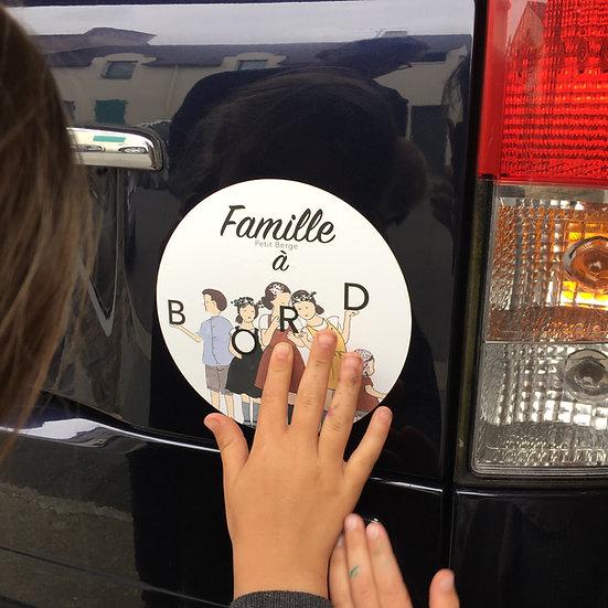 """Autocollant """"famille à bord"""""""