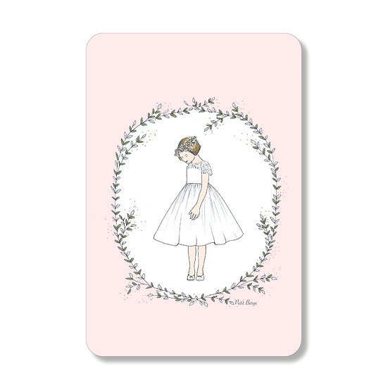 10 Cartes Robe Volante fond rose ( personnalisable)