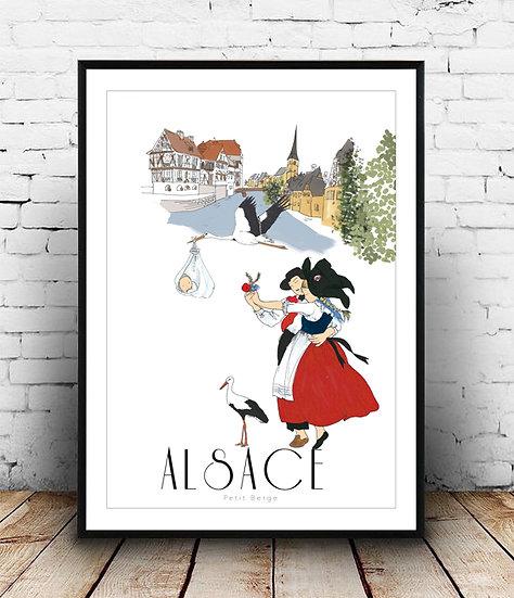 Affiche Alsace
