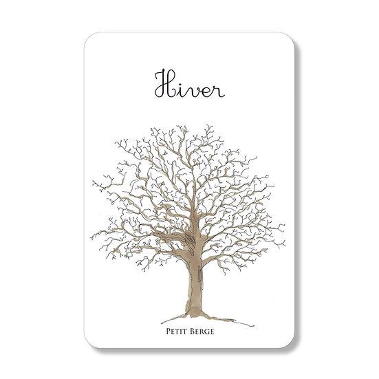 """Carte postale des saisons """"hiver"""""""