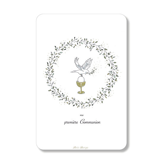 20 Cartes Calice et Colombe ( personnalisable)