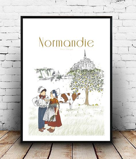 Affiche Normandie
