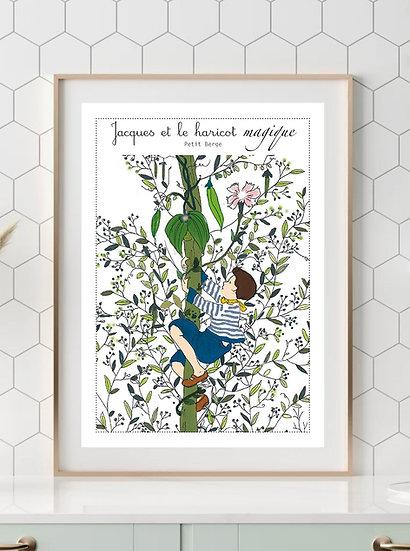 Affiche A4 Jacques et le Haricot Magique