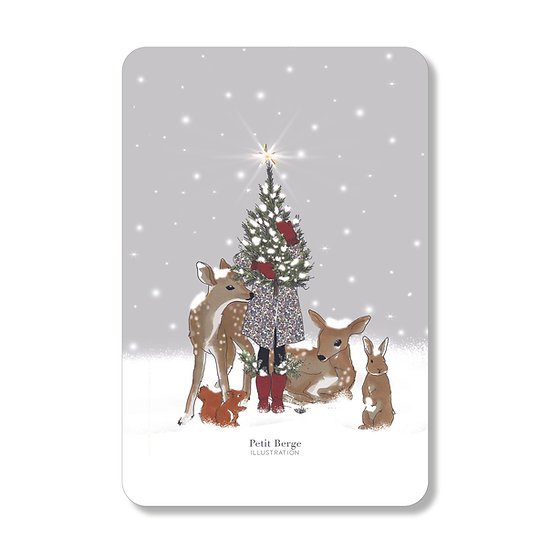 Carte féerie de Noel