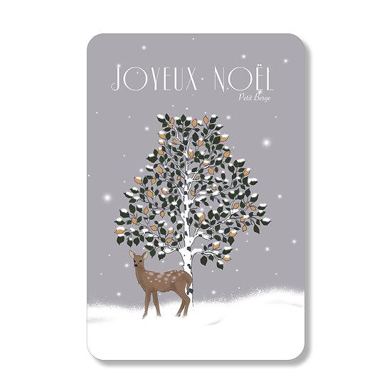 Carte arbre de Noel
