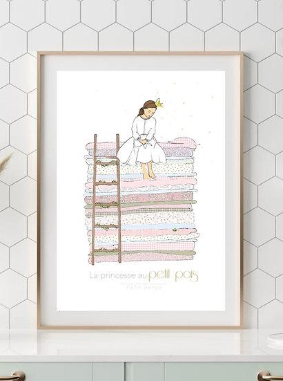 Affiche A4 Princesse Petit Pois