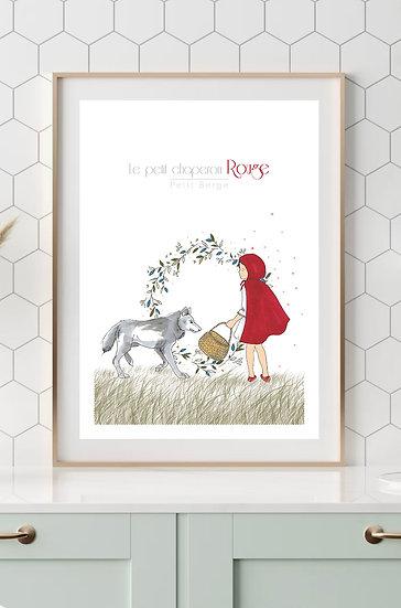 Affiche A4 Petit Chaperon Rouge