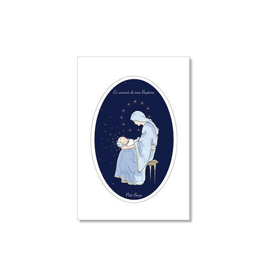 """20 Cartes baptême """"douce Marie"""" ( personnalisable)"""