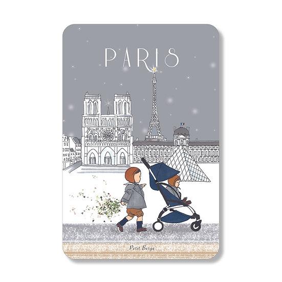 Carte Promenade d'hiver à Paris