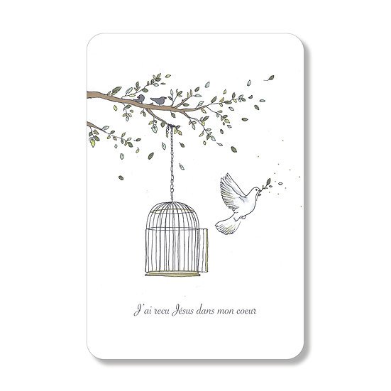 Carte Cage et Colombe