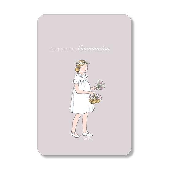 20 Cartes Fille au panier ( personnalisable)