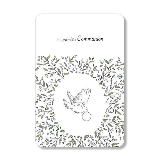 10 Cartes Couronne et Colombe ( personnalisable)