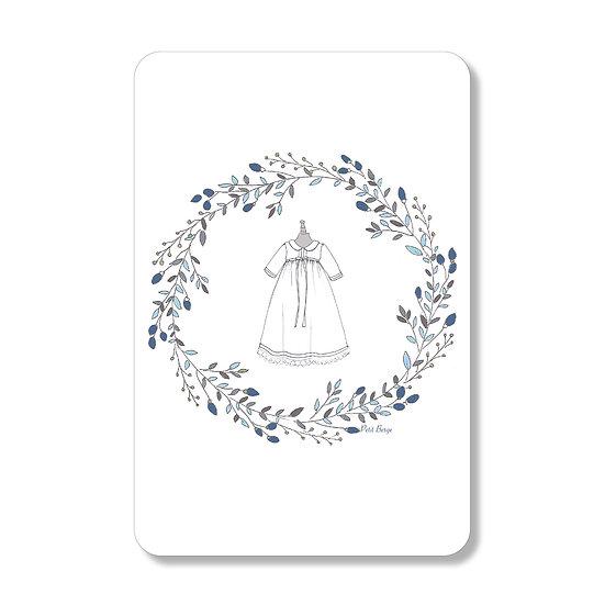 10 Cartes Robe de Baptême Garçon ( personnalisable)