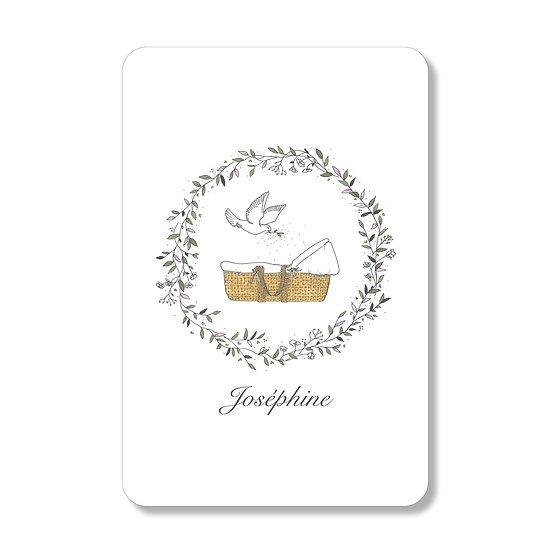 10 Cartes baptême Joséphine ( personnalisable)