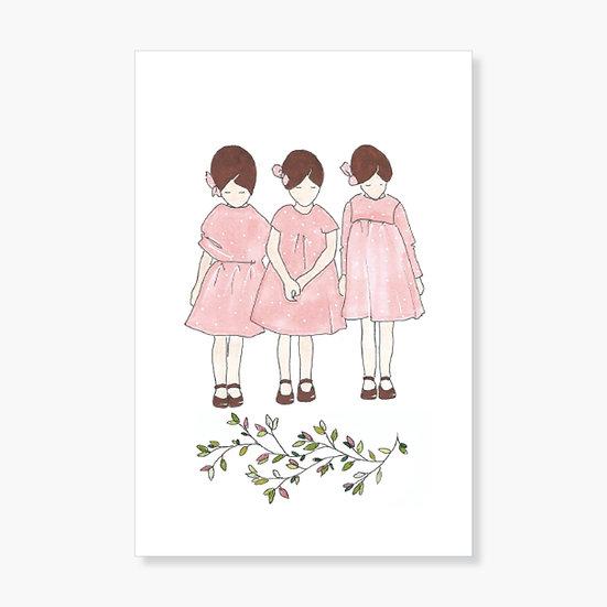 Carte Trois Petites Filles