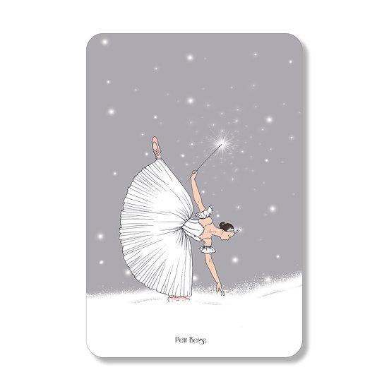 Carte ballerine des neiges