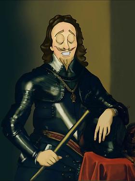 King Charles Animated Portrait