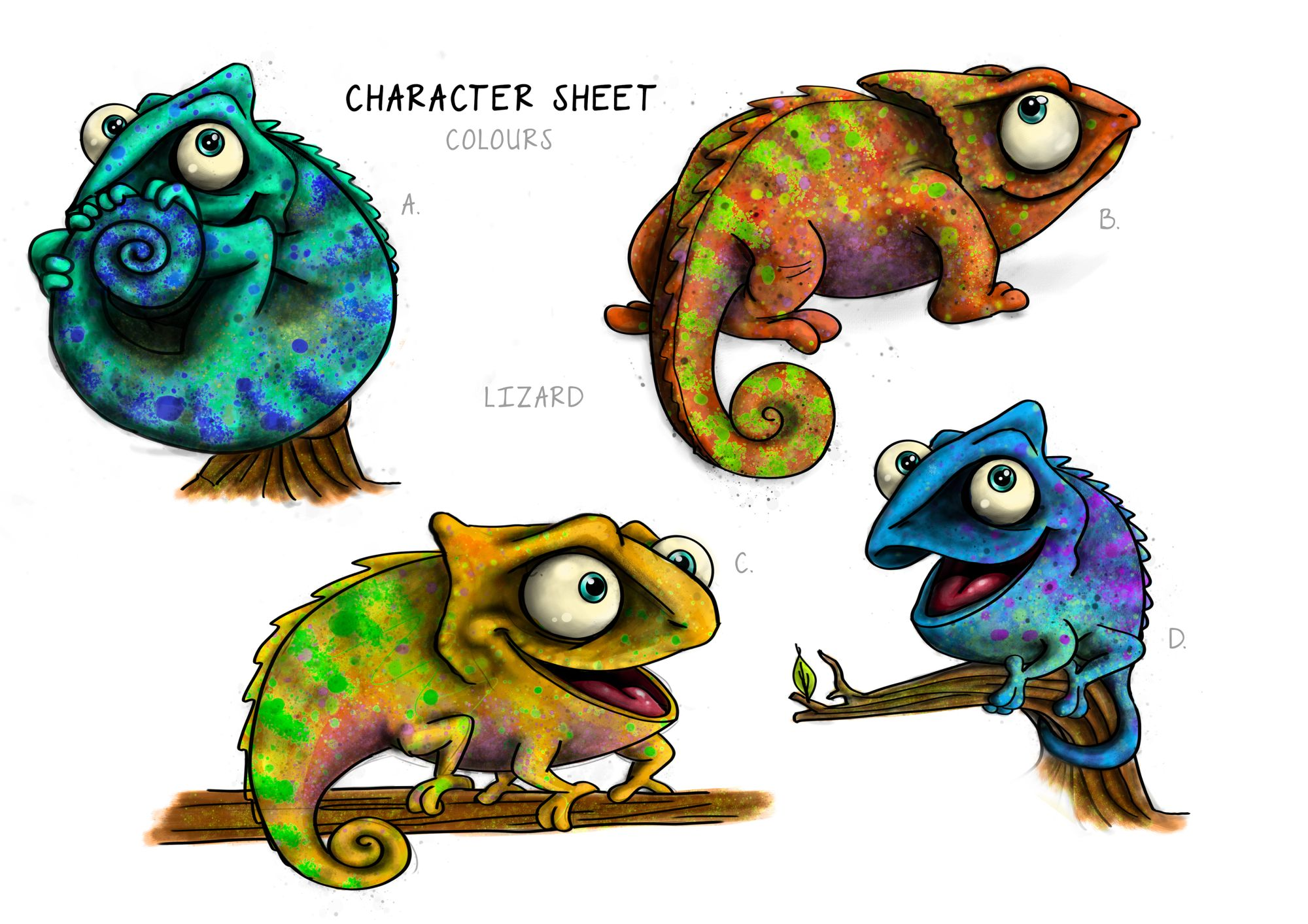 Lizard Colour examples_Small
