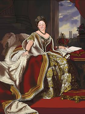 Queen Victoria Animated Portrait