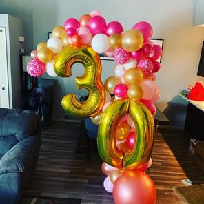 30th Birthday Organic Balloon Garland Ha