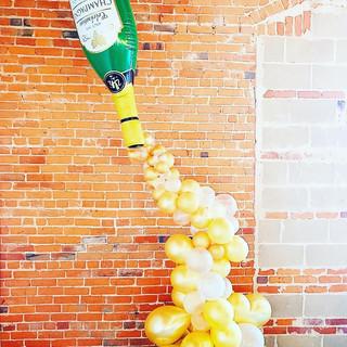 Champagne Balloon Half Arch Wedding Back