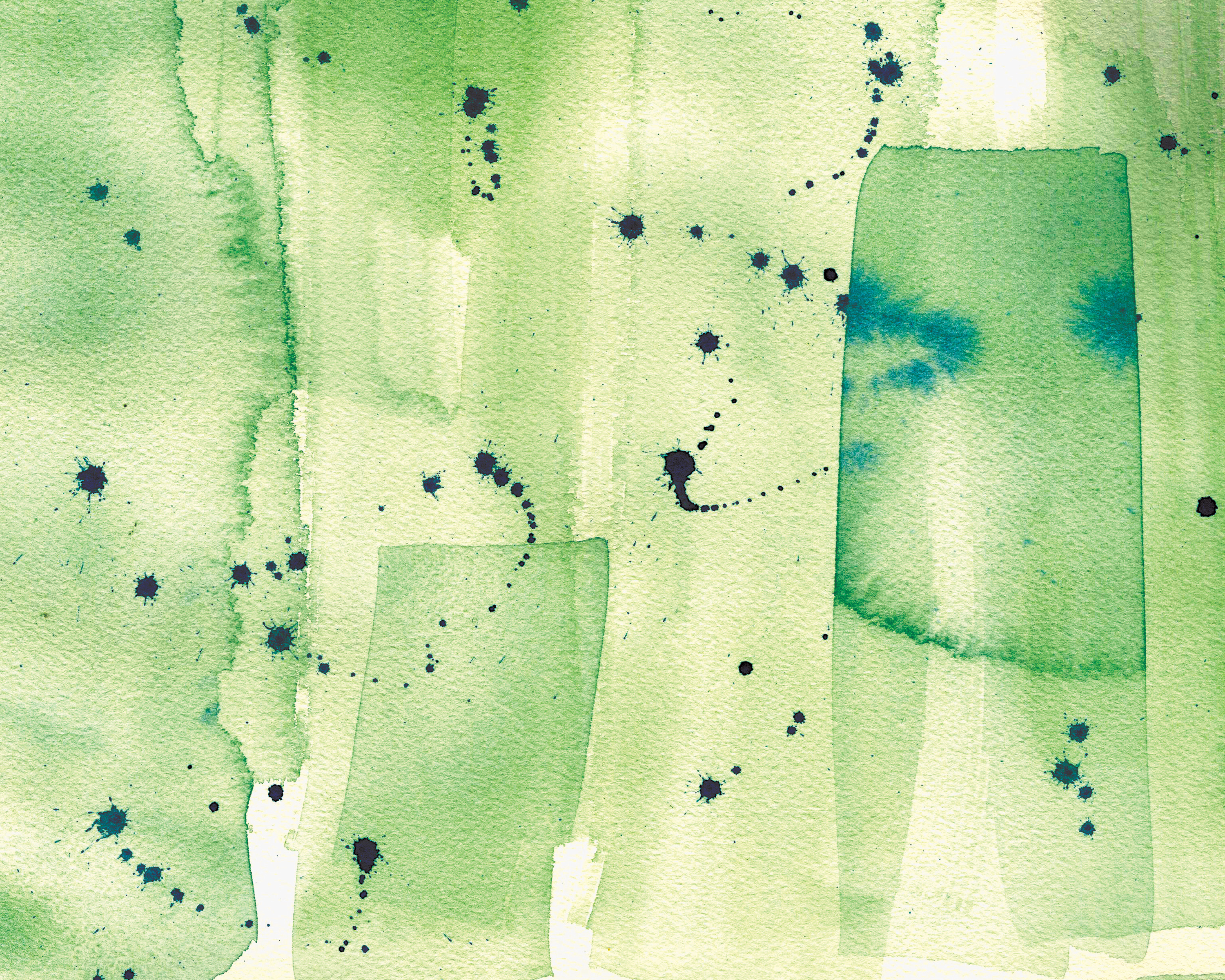 Abstract Green Watercolor