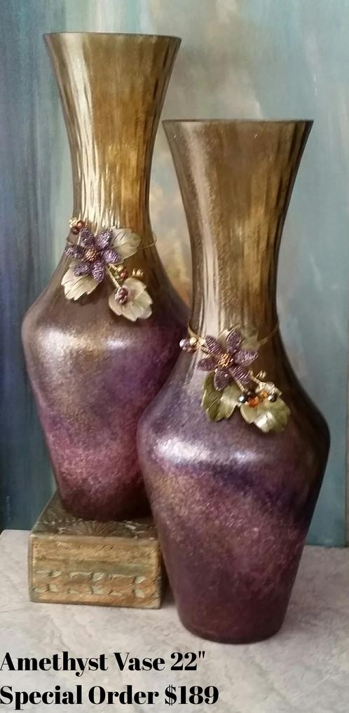 22 Amethyst Vase