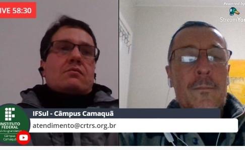 CRT-RS participa de Live institucional com alunos do IFSUL campus Camaquã