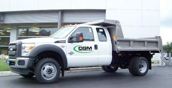 this truck is used for landscaping and snow plowing