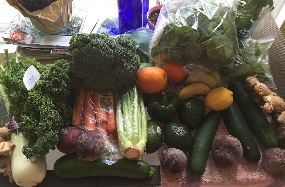 Part of my shopping for the 5-day juice detox cleanse