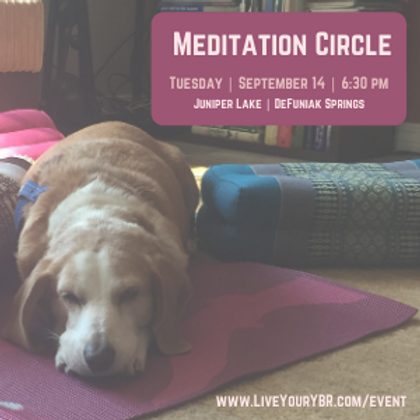 Meditation Circle - September
