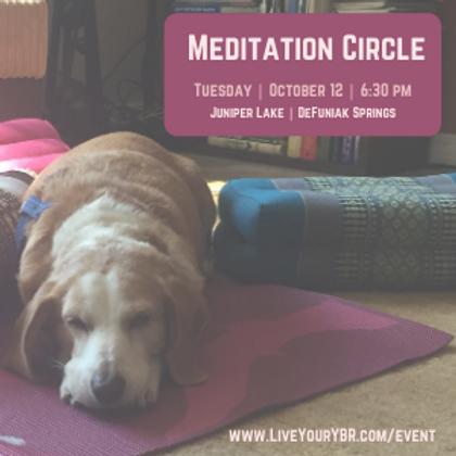 Meditation Circle - October